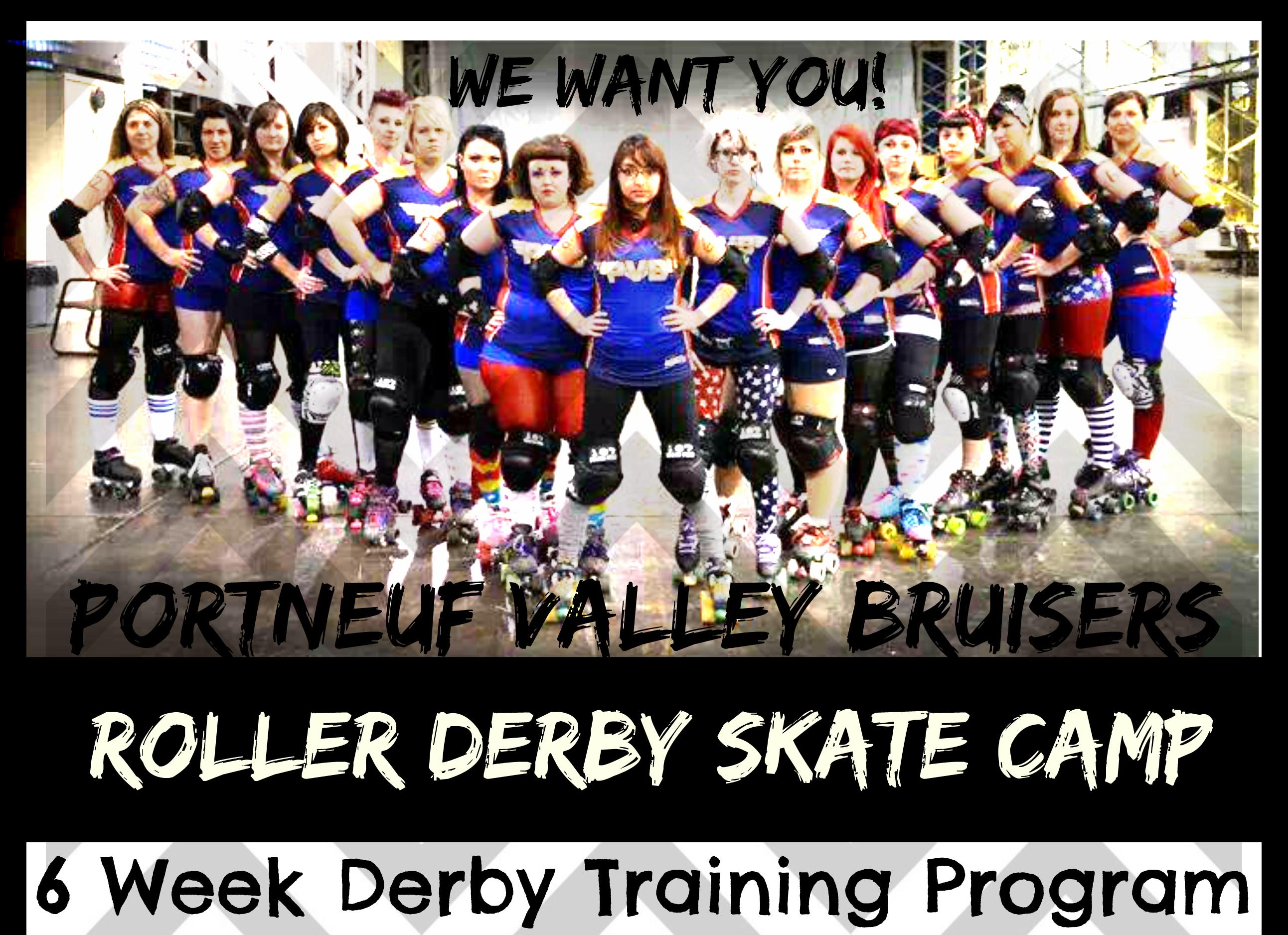 roller derby skate camp half page