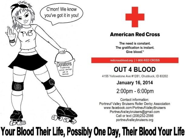 derby blood drive poster