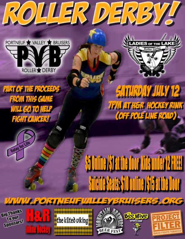 Portneuf Valley Bruisers ~vs~ Ladies of the Lake July 12th
